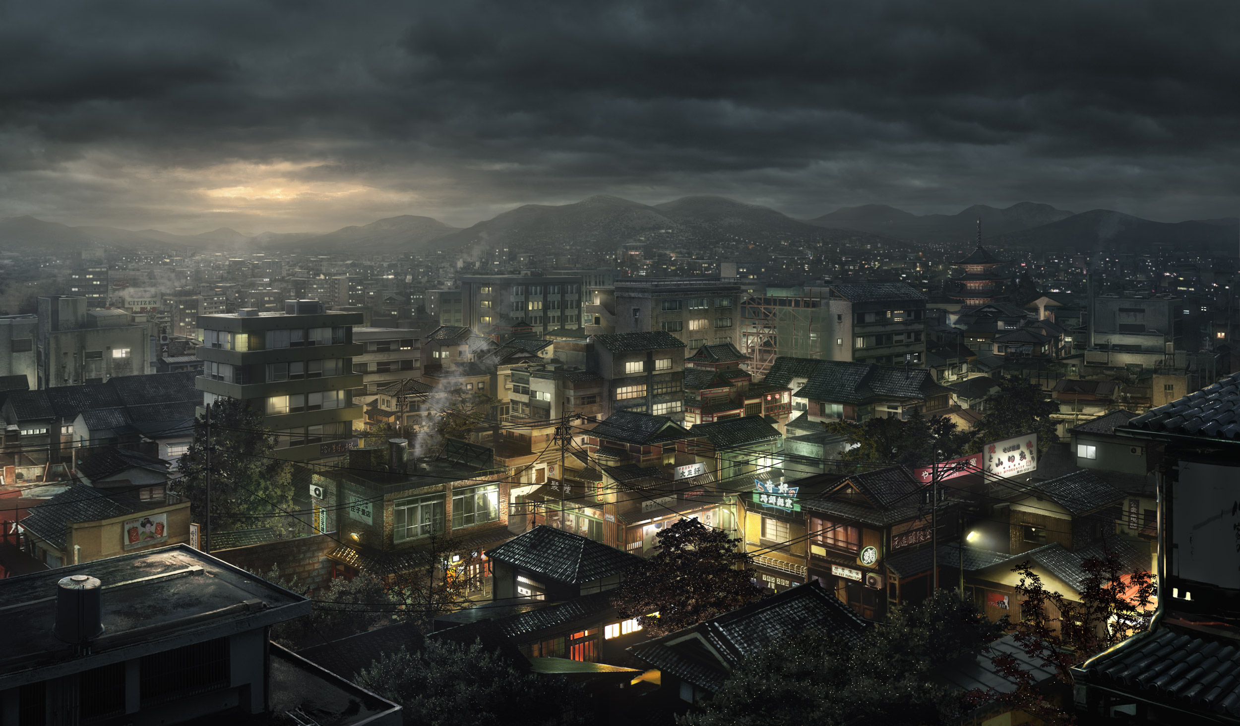 2008 | Matte Painting | Blood the last vampire | Tokyo Establishing